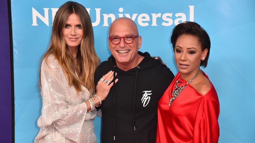 """Die """"America's Got Talent""""-Juroren Heidi Klum, Howie Mandel und Mel B."""