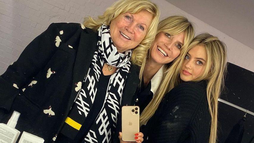 Erna Klum, Heidi Klum und ihre Tochter Leni im Dezember 2020