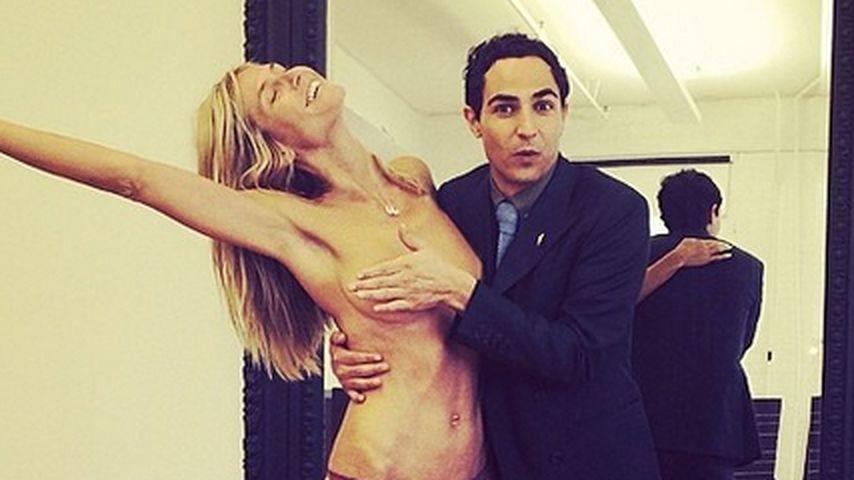 """""""Nackt""""-Foto: Geht Heidi Klum jetzt zu weit?"""