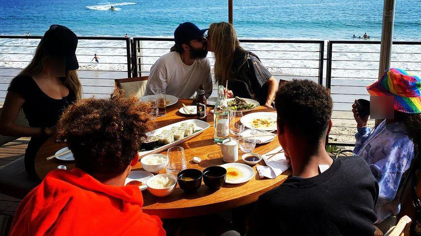 Heidi Klum mit ihren Kindern und Ehemann Tom Kaulitz, 2020