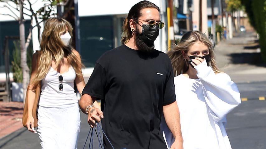 Heidi Klum, Tom Kaulitz und Leni Klum im Juli 2021 in Los Angeles