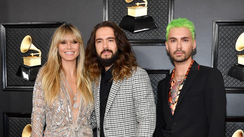 Heidi Klum mit Tom und Bill Kaulitz im Januar 2020