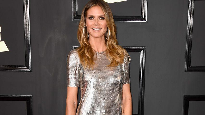 Silber, silber, silber: Heidi Klum glänzt bei den Grammys!