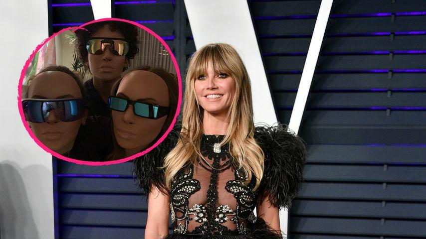 Heidi Klums Kinder Albern Mit Kim Kardashian Masken Rum