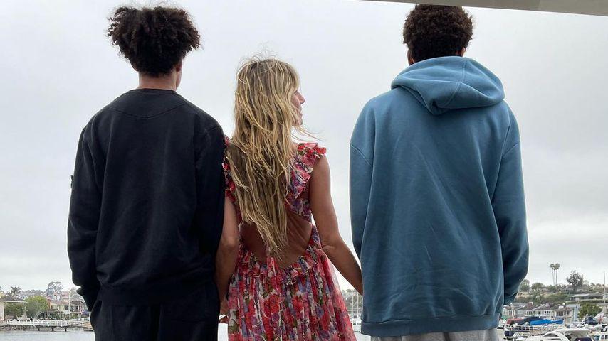 Heidi Klum baff: Ihre Söhne überragen sie um einen Kopf