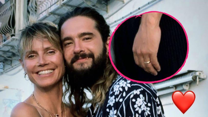Überraschend schlicht: Heidi Klum und Tom zeigen Eheringe