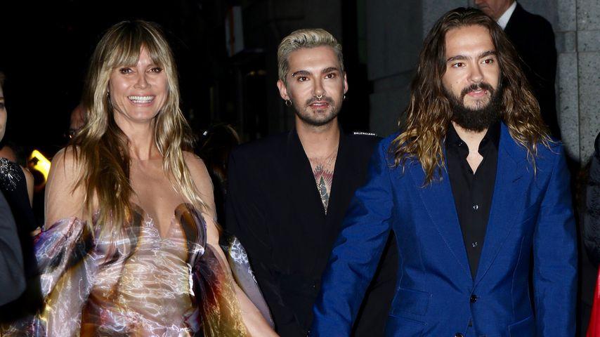 Heidi Klum mit Tom und Bill (M.) Kaulitz in New York auf dem Angel Ball 2019