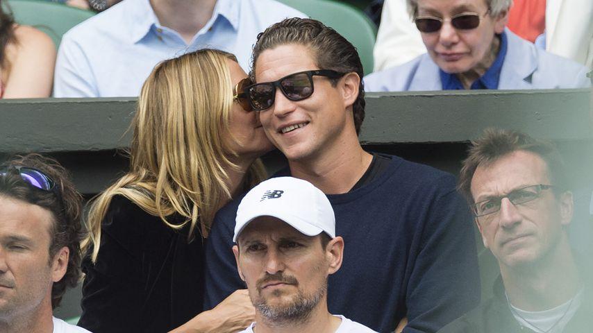 Heidi Klum und Vito Schnabel beim Wimbledon-Halbfinale 2016