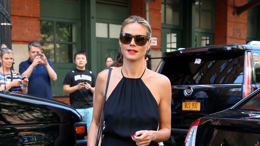 Heidi Klum vor dem Greenwich Hotel