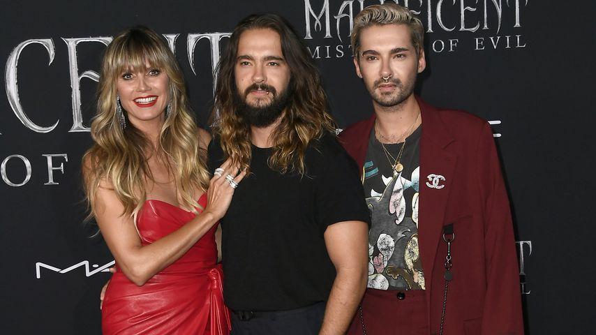 """Heidi Klum zusammen mit Tom Kaulitz und dessen Bruder Bill bei der """"Maleficent 2""""-Premiere"""