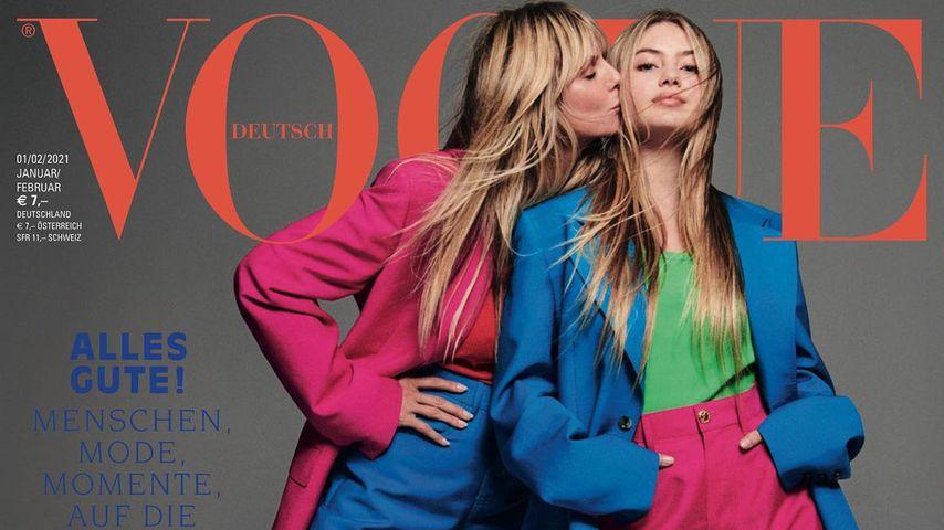 Heidi und Leni Klum auf dem Cover der deutschen Vogue