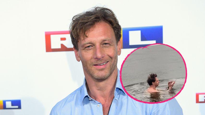 """Challenge: """"Der Lehrer""""-Star Hendrik geht in Eis-Teich baden"""