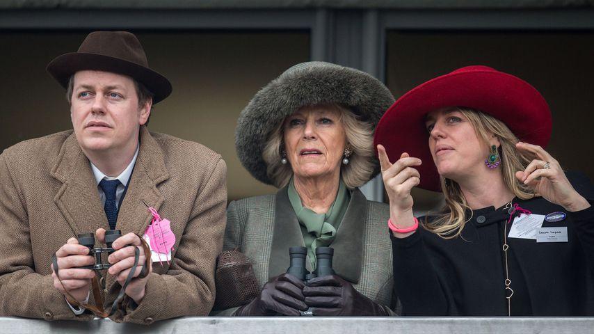 Herzogin Camilla mit ihren Kindern Tom Parker Bowles und Laura Lopes