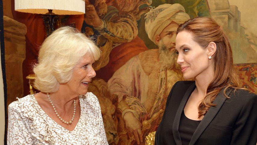 Herzogin Camilla und Angelina Jolie im Clarence House im Juni 2014