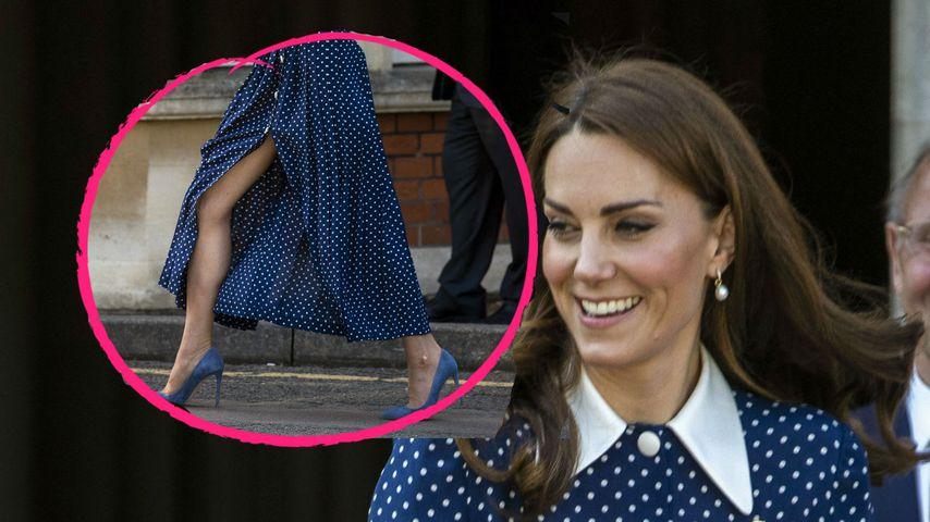 Richtig sexy: Hier zeigt Herzogin Kate besonders viel Bein