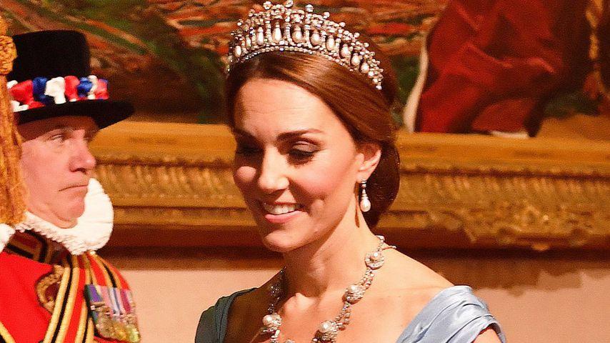 Herzogin Kate bei einem Staatsbankett im Buckingham Palace 2018