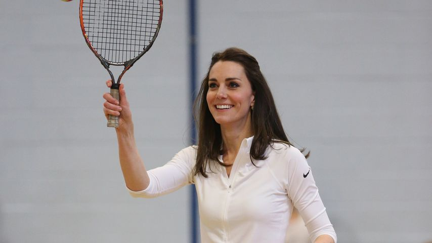 In Jogginghosen: Herzogin Kate tritt zum Schulsport an