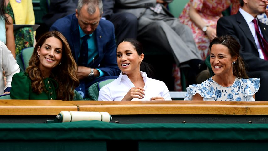 Sogar im Trio: Kate, Meghan & Pippa gut gelaunt in Wimbledon