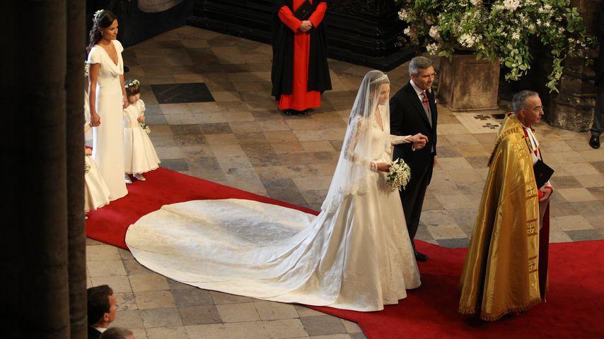 Herzogin Kate, ihr Vater Michael und Pippa Middleton (l.)