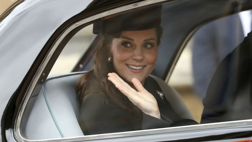 Herzogin Kate im Auto