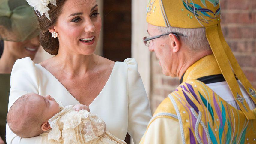 Herzogin Kate und Prinz Louis bei dessen Taufe im Juli 2018