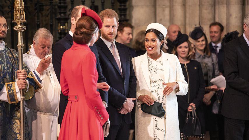 Herzogin Kate, Prinz William, Prinz Harry und Herzogin Meghan am Commonwealth Day 2019