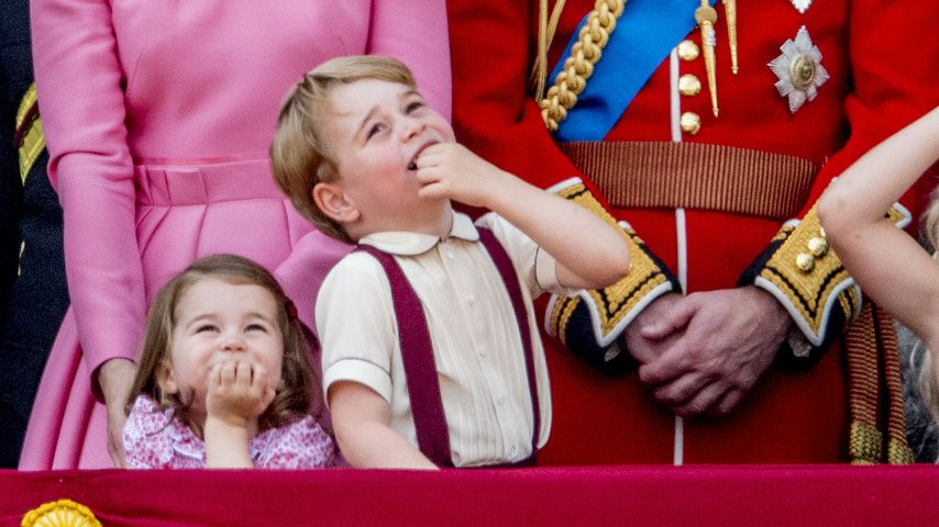 "Herzogin Kate, Prinz William, Prinzessin Charlotte, Prinz George bei ""Trooping The Colour"""