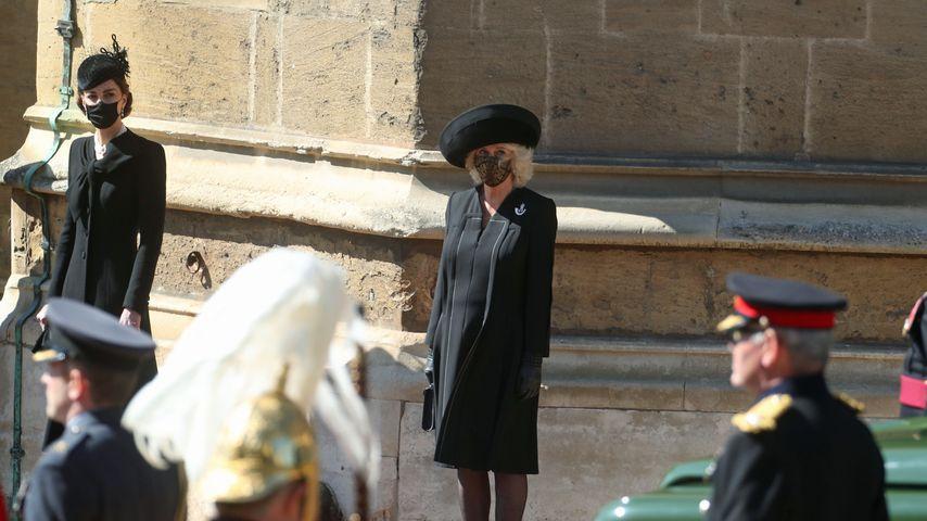 Herzogin Kate und Herzogin Camilla bei Prinz Philips Trauerfeier