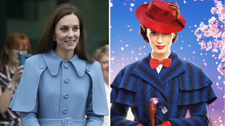 12a9cd11cfc1a1 Im Cape-Mantel: Herzogin Kate bezaubernd wie Mary Poppins ...