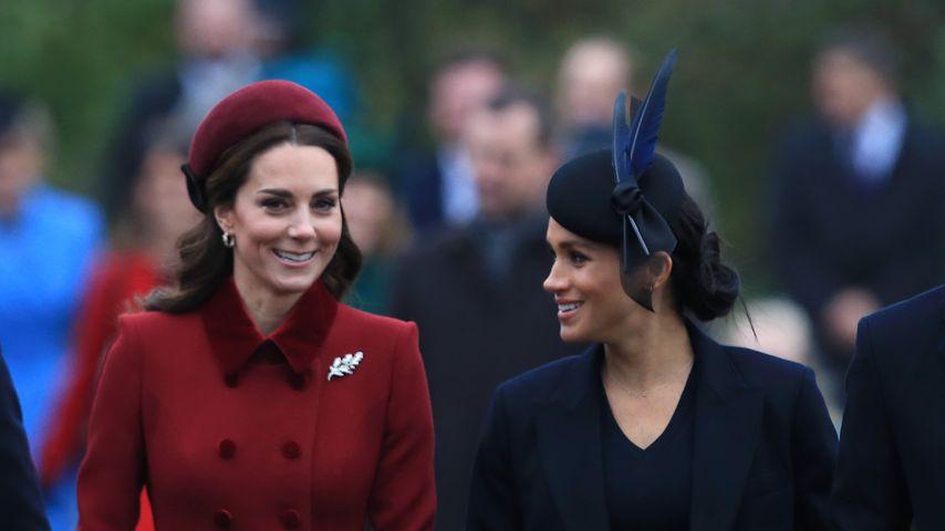 Herzogin Kate und Herzogin Meghan beim Kirchgang am 25. Dezember 2018