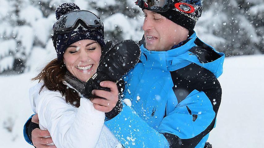 Herzogin Kate und Prinz William 2016 in den Ski-Ferien