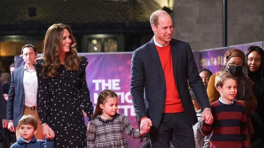 Herzogin Kate und Prinz William mit ihren Kids, Dezember 2020