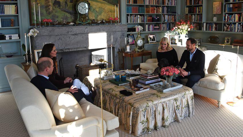 Herzogin Kate und Prinz William mit Kronprinz Haakon und seiner Frau Mette-Marit