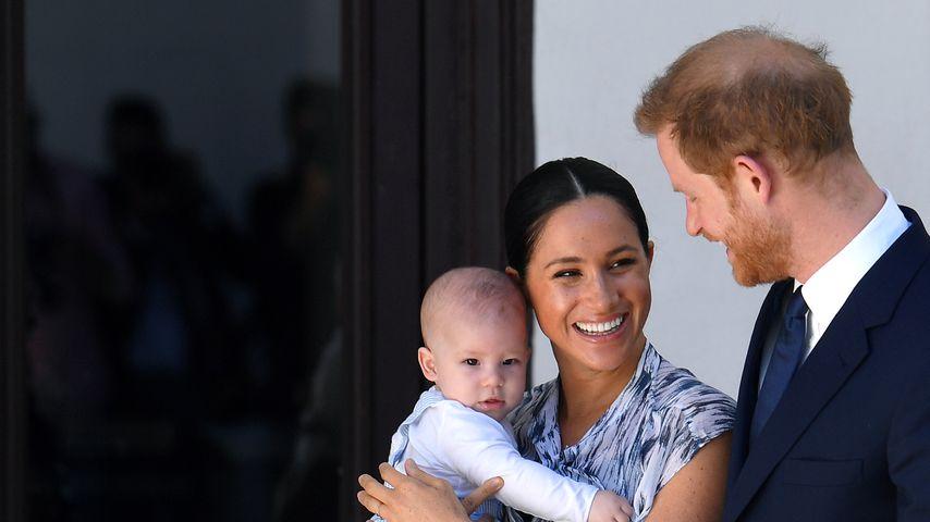 Herzogin Meghan mit Archie Harrison und Prinz Harry