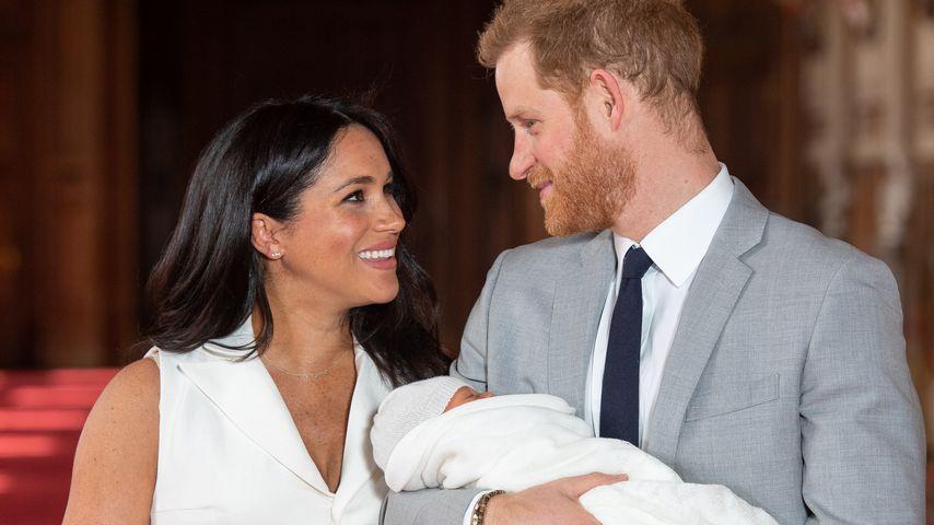 Herzogin Meghan, Prinz Harry und Archie Harrison am 8. Mai 2019 in Windsor