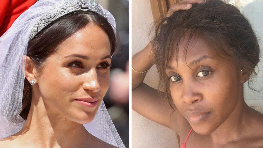 Fast ungeschminkt: Motsi Mabuse feiert Meghans Braut-Make-up