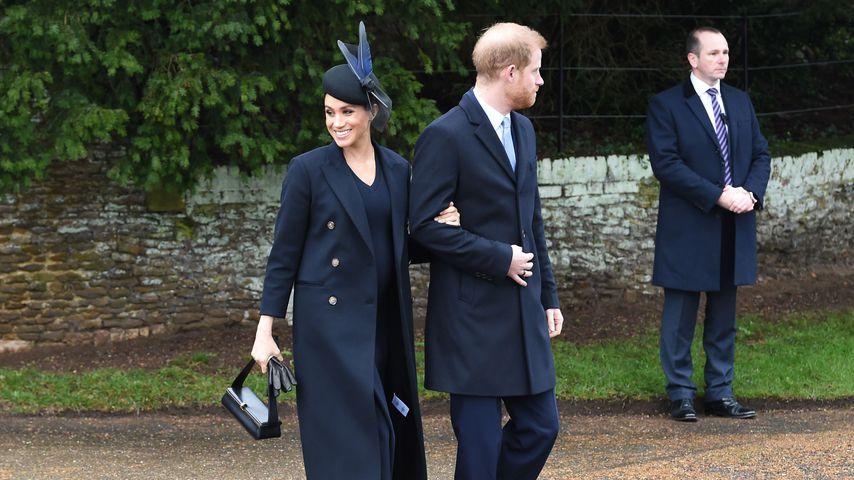 Herzogin Meghan und Prinz Harry an Weihnachten 2018 in Sandringham