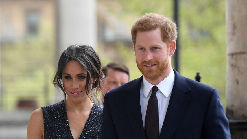 Herzogin Meghan und Prinz Harry im April 2018 in London