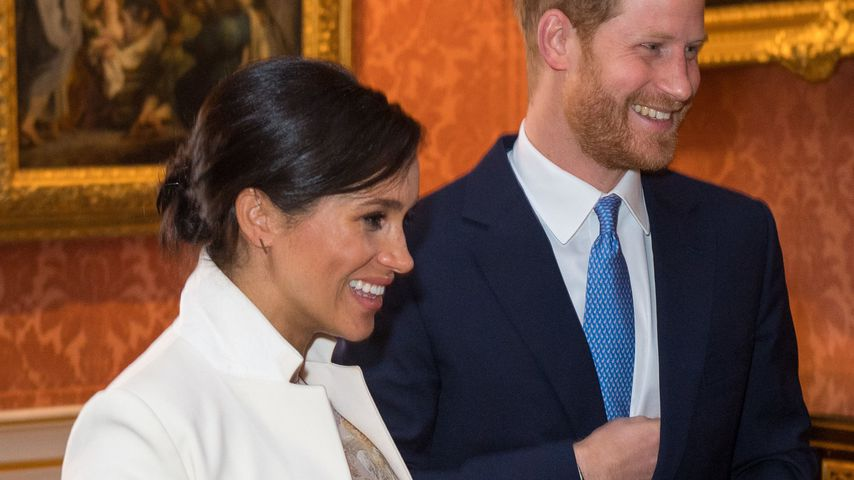 Herzogin Meghan und Prinz Harry im Buckingham Palace