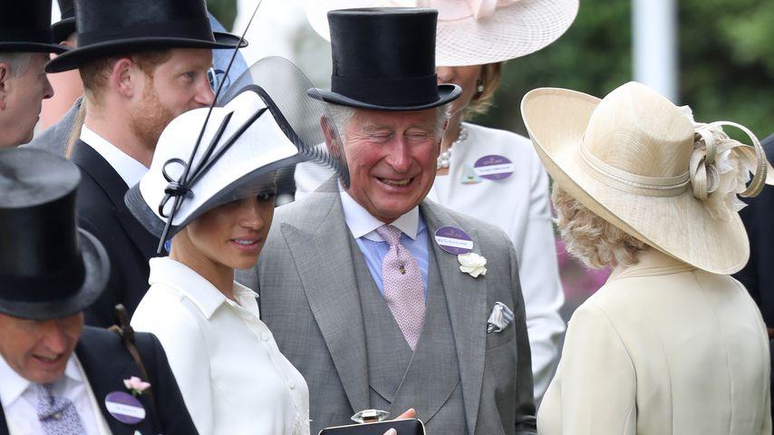 Herzogin Meghan und Prinz Harry mit Prinz Charles und Camilla in Ascot