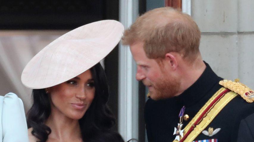 Nervöse Meghan: Das sagte Prinz Harry auf Balkon zu ihr!