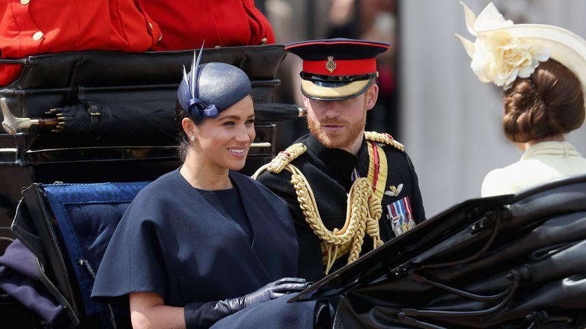 Herzogin Meghan und Prinz Harry bei der Trooping The Colour Parade