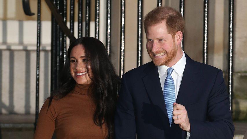 Herzogin Meghan und Prinz Harry beim Besuch der kanadischen Botschaft in London, Januar 2020