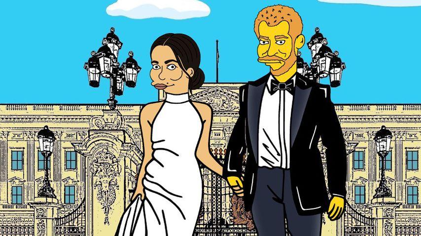 "Herzogin Meghan und Prinz William als ""Simpsons""-Figuren"