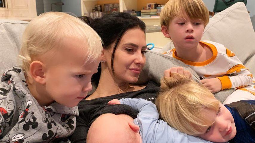Hilaria Baldwin mit ihren Kindern