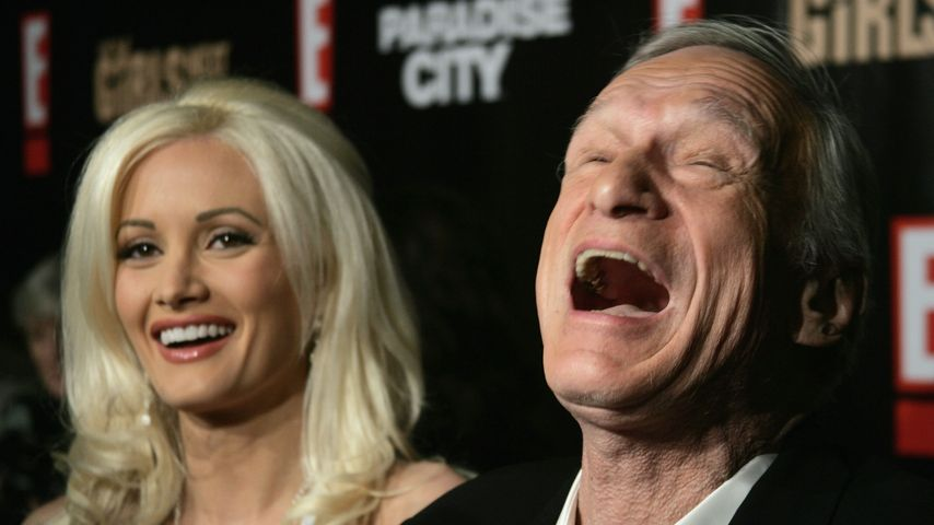 Holly Madison & Hugh Hefner bei einer Playboy-Party 2007