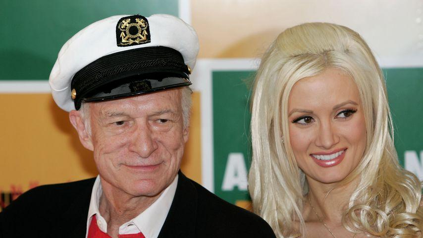 Hugh Hefner und Holly Madison, 2006 in Cannes