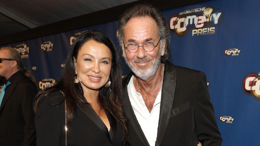 Hugo Egon Balder mit seiner Frau Elena, Oktober 2017