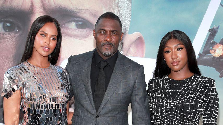 Idris Elba mit seiner Frau Sabrina Dhowre und seiner Tochter Isan Elba
