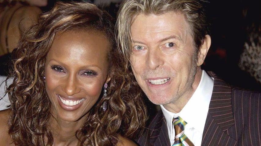 Iman und David Bowie im Jahr 2003
